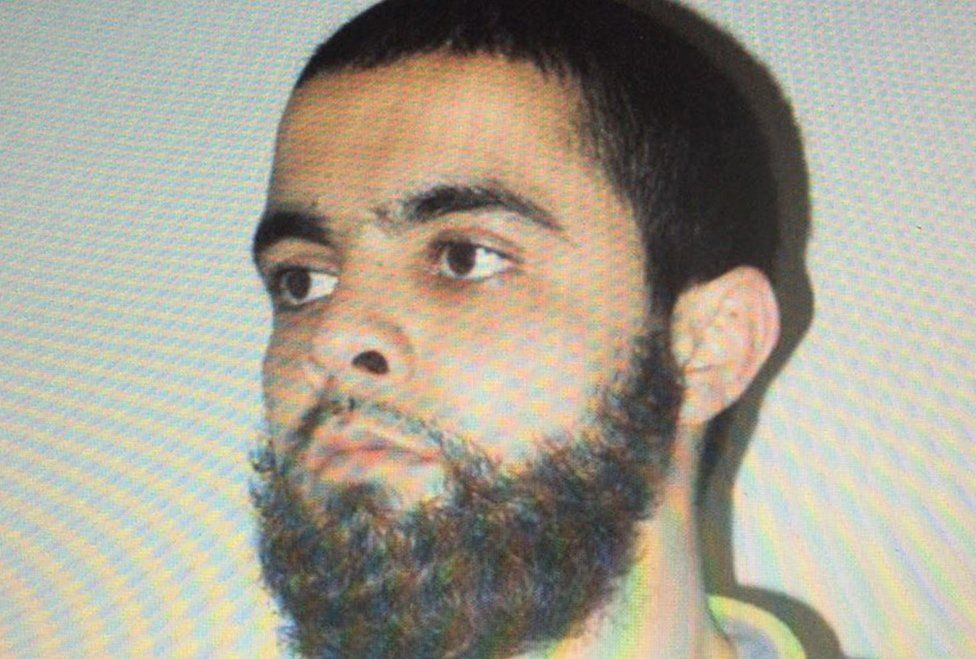 Undated picture obtained on March 23, 2018 shows Redouane Lakdim, who authorities have named as attacker responsible for deaths of three people in south-west France