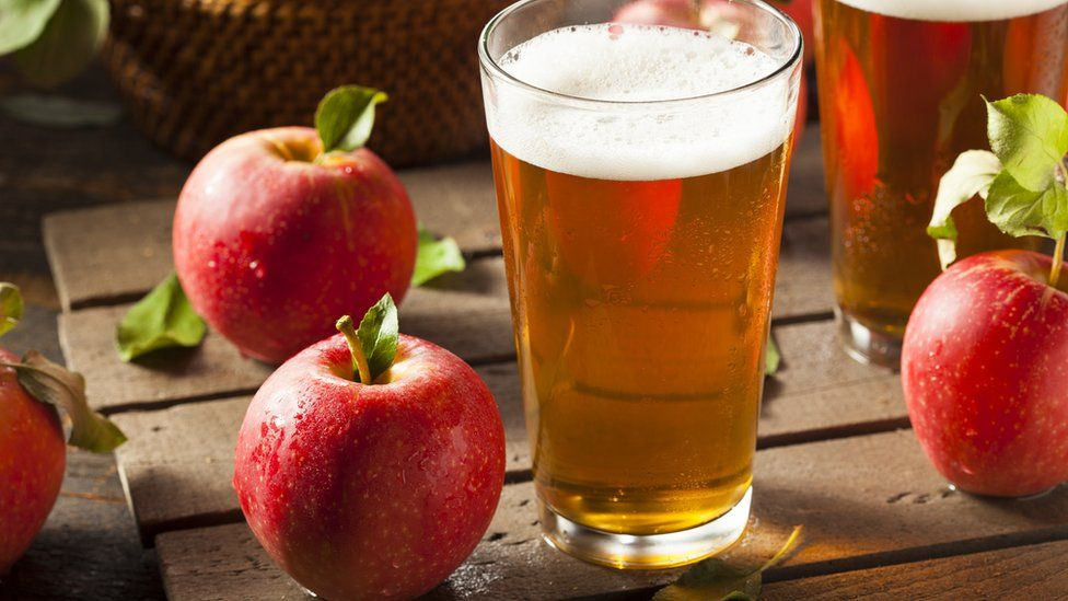 Cider and apples