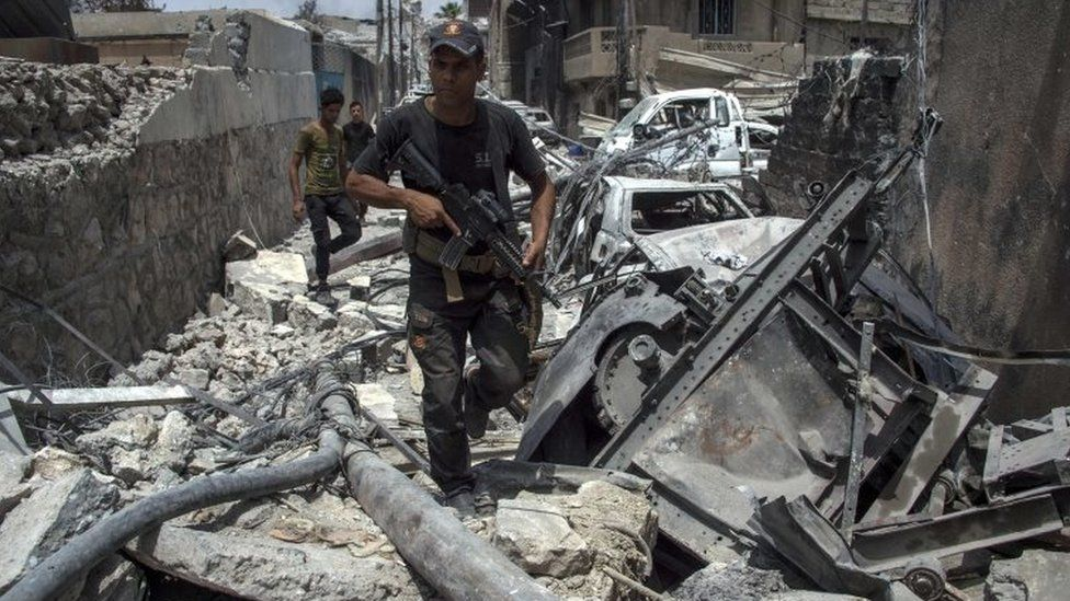 Iraqi Counter-Terrorism Services advance in Mosul's Old City. Photo: 3 July 2017