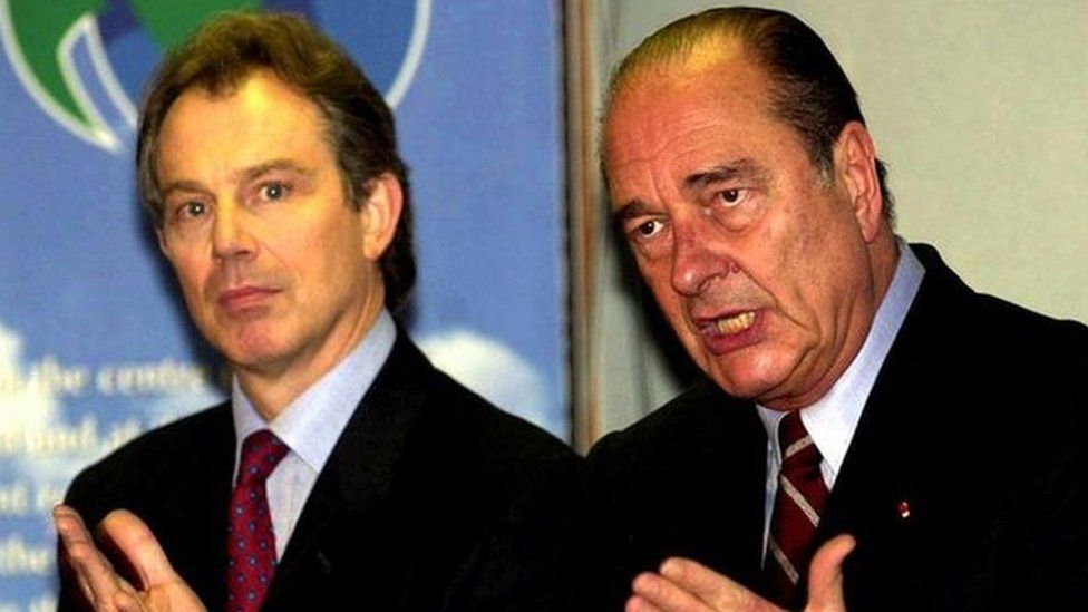 Tony Blair and Jacques Chirac in 2000