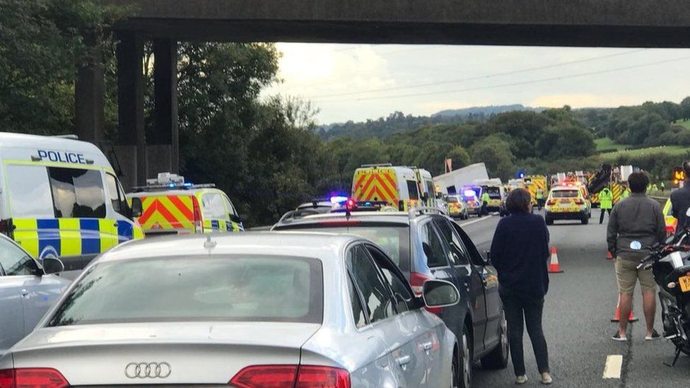 M5 after the crash on Saturday