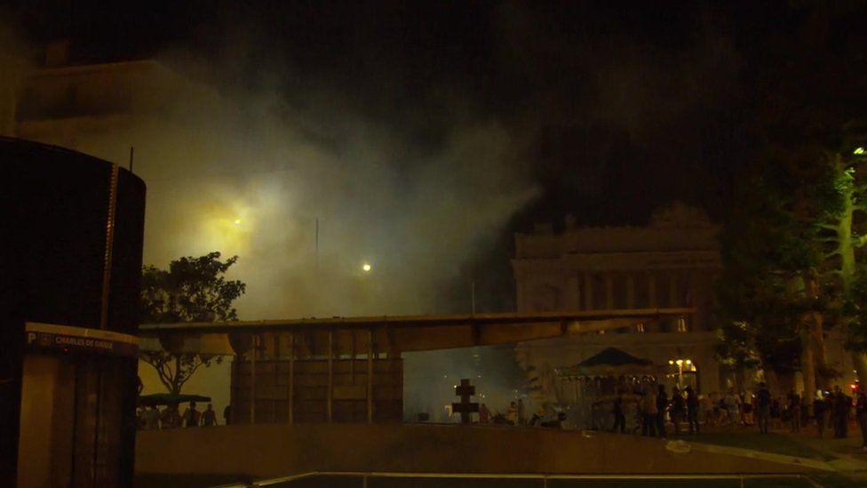 Tear gas explosion