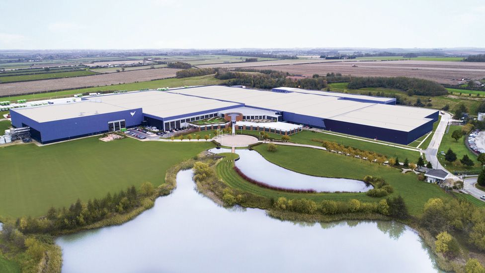 Aerial view of factory