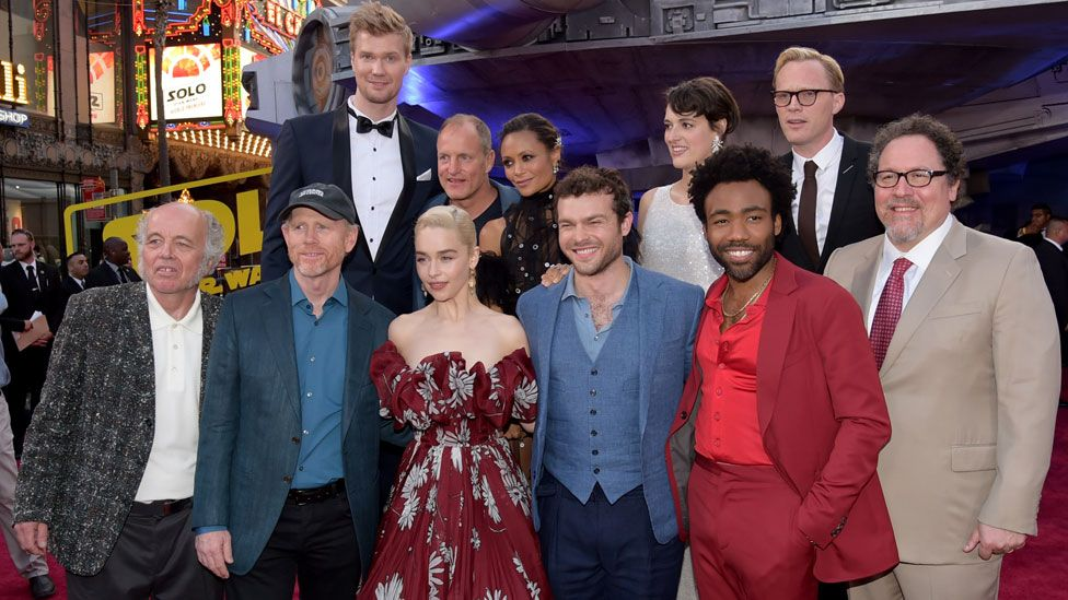 The cast of Solo with Ron Howard