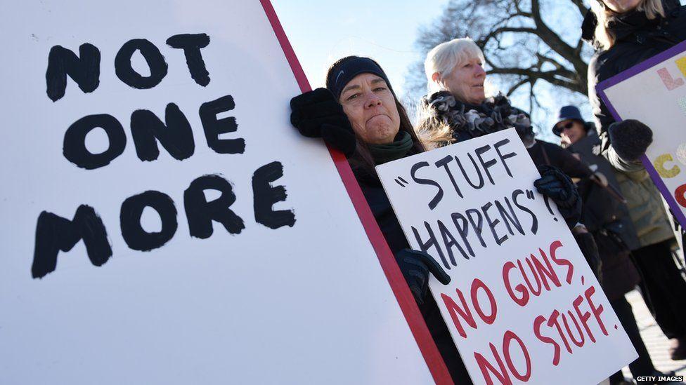 A protest against guns in America