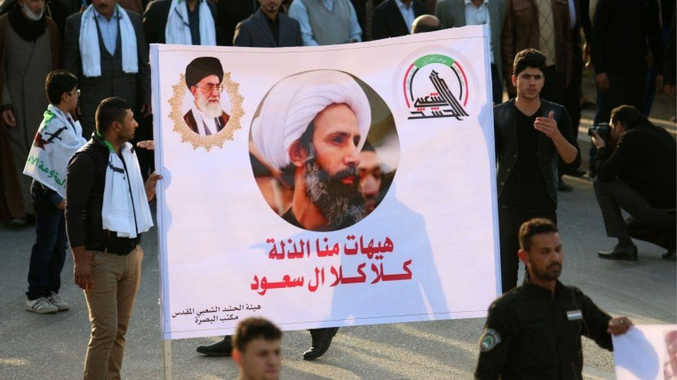 Protest in Basra, Iraq, 6 Jan