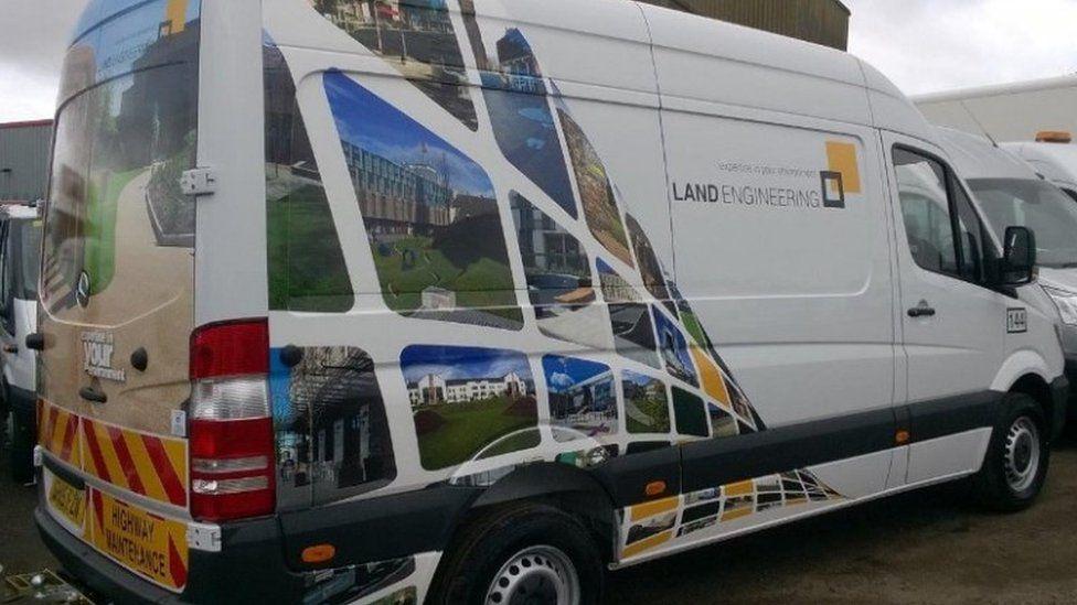 screen grab of Land Engineering van