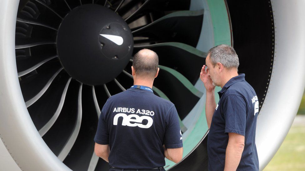 New Airbus plane on show near Toulouse, 1 Jul 14