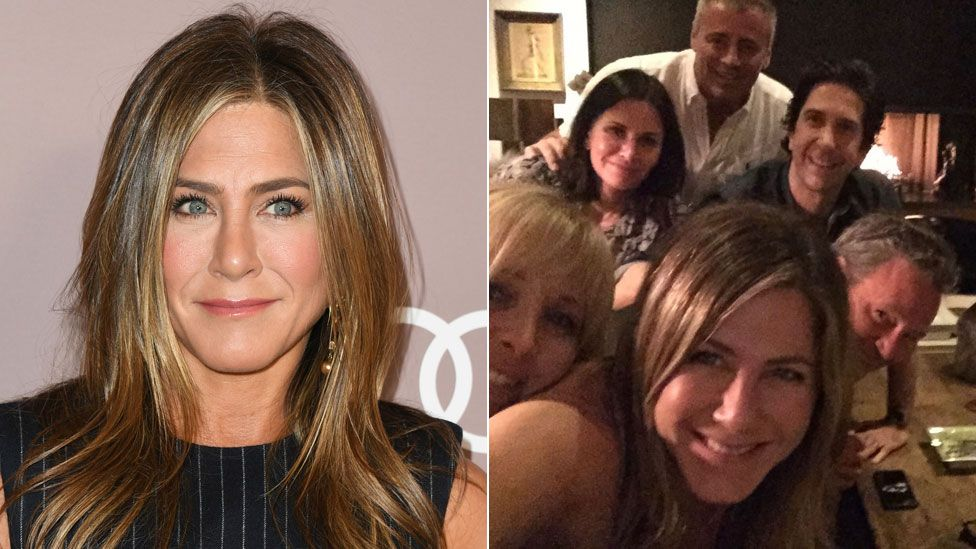 50 y o jennifer aniston joins instagram for the first time shares friends reunion pic gets 6 million followers in a day bored panda Jennifer Aniston Joins Instagram By Posting Friends Reunion Photo Bbc News