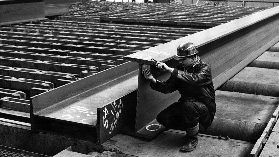 Steel in Sheffield in 1952