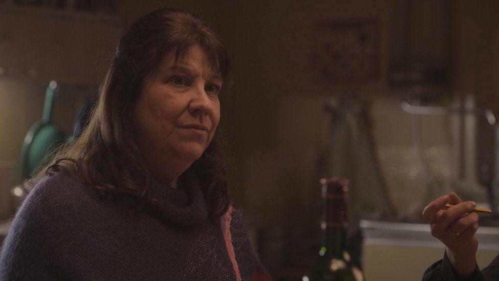 Jill Nalder playing her character's mum