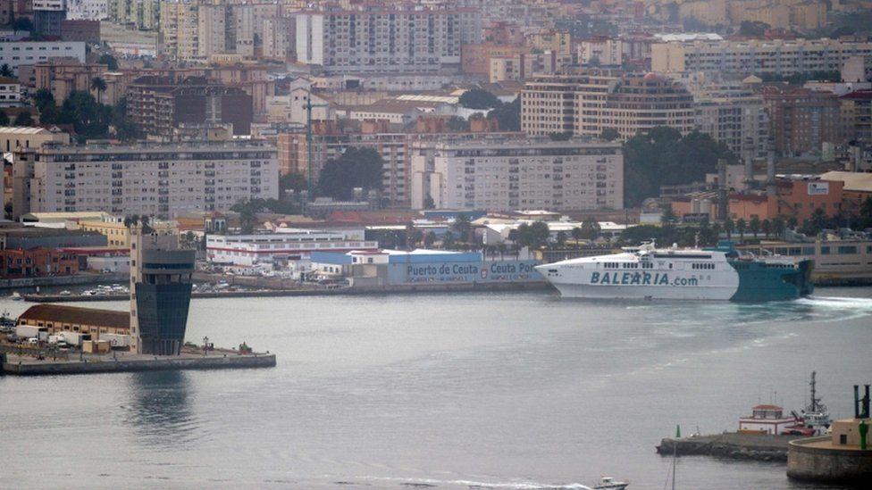 The Spanish port of Ceuta