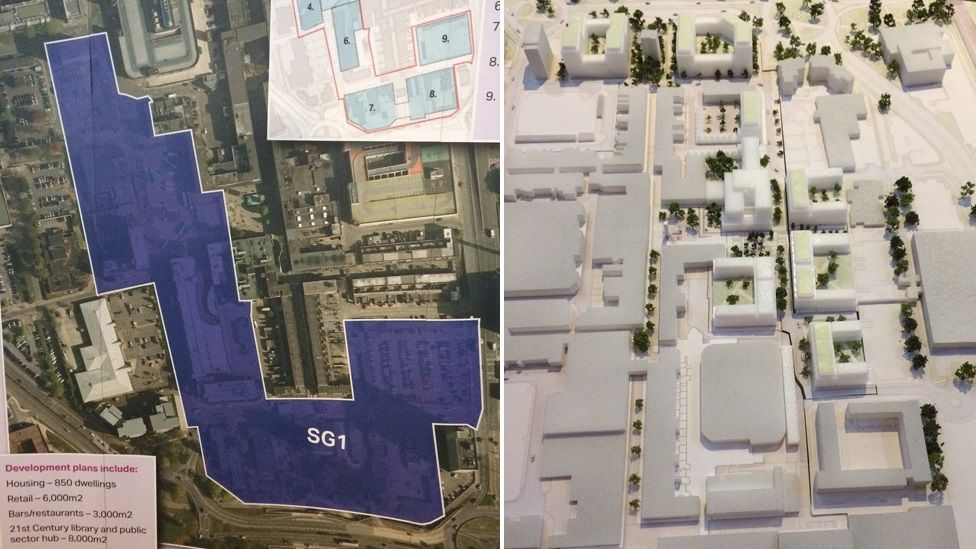 Plans for redeveloping Stevenage town centre.