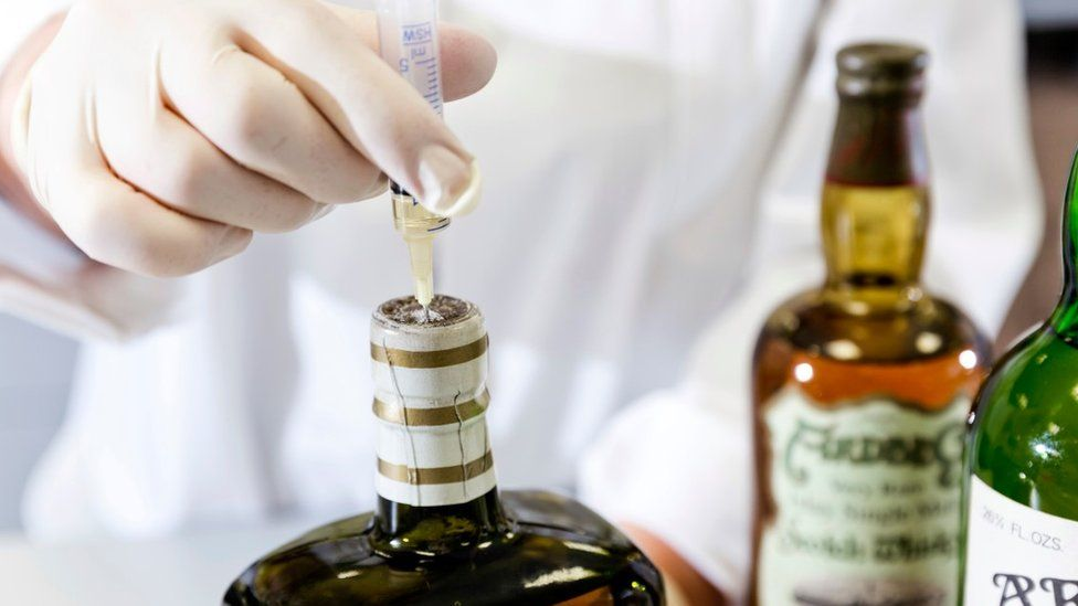 Testing of Scotch bottle at research laboratory