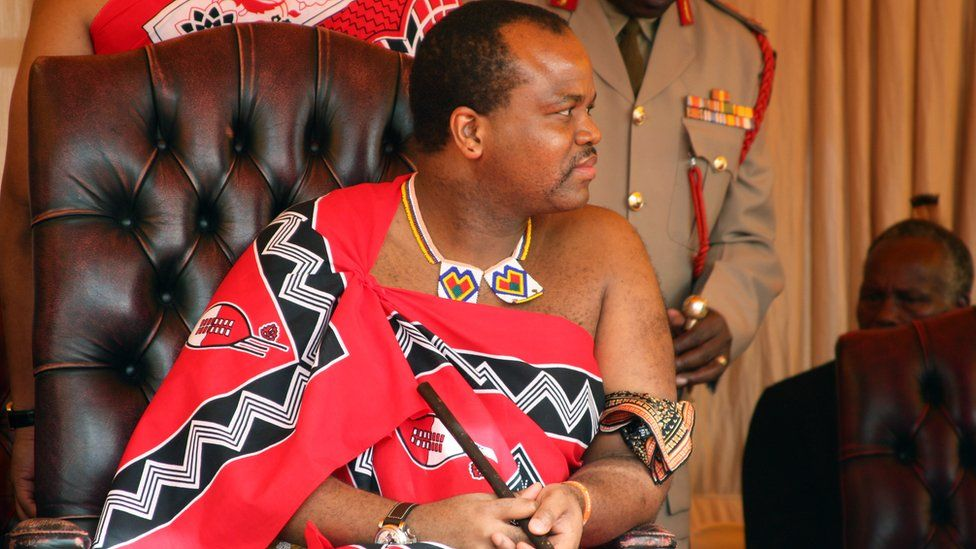 Swaziland's King Mswati III attends the launch of a campaign calling for his male subjects to get circumcised to curb the spread of HIV infection, 15 July 2011