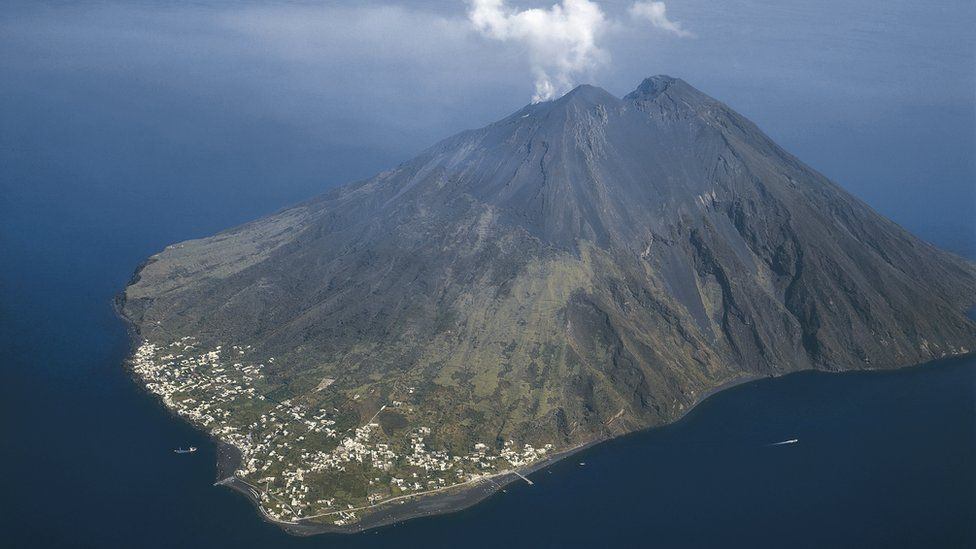Stromboli from the air