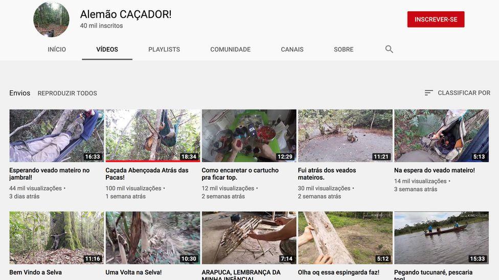 """Canal """"Alemão CAÇADOR!"""" no YouTube tem 40 mil inscritos e compartilha dicas e cenas de caçadas de vários animais silvestres"""
