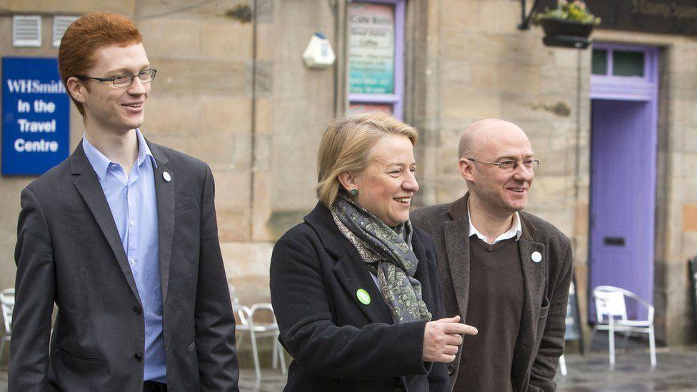 Ross Greer, Natalie Bennett and Patrick Harvie