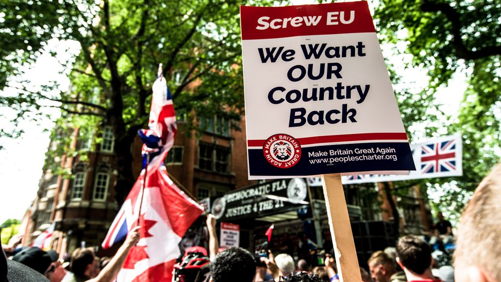 A march for supporters of Brexit