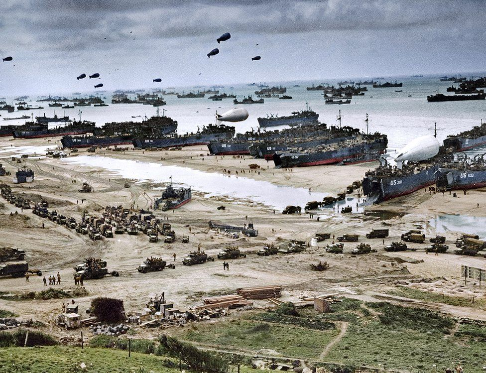 D-Day landings in colour - BBC News