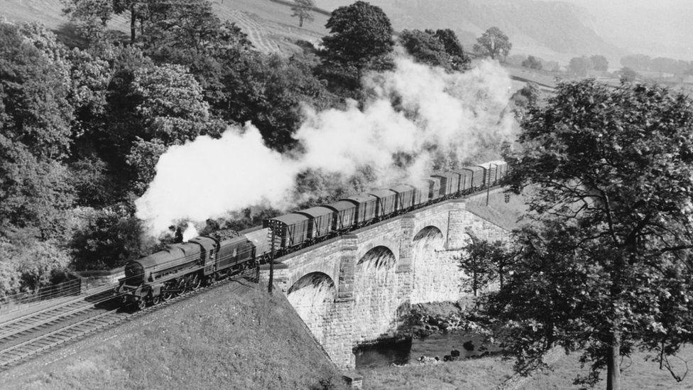 Sherrif Brow viaduct on the Settle to Carlisle line