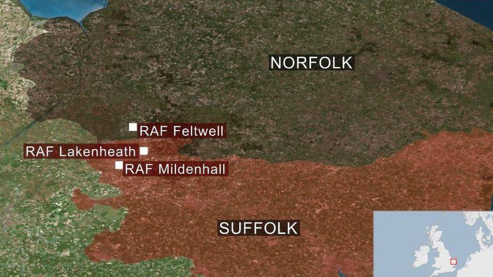 Lakenheath, Mildenhall and Feltwell bases.