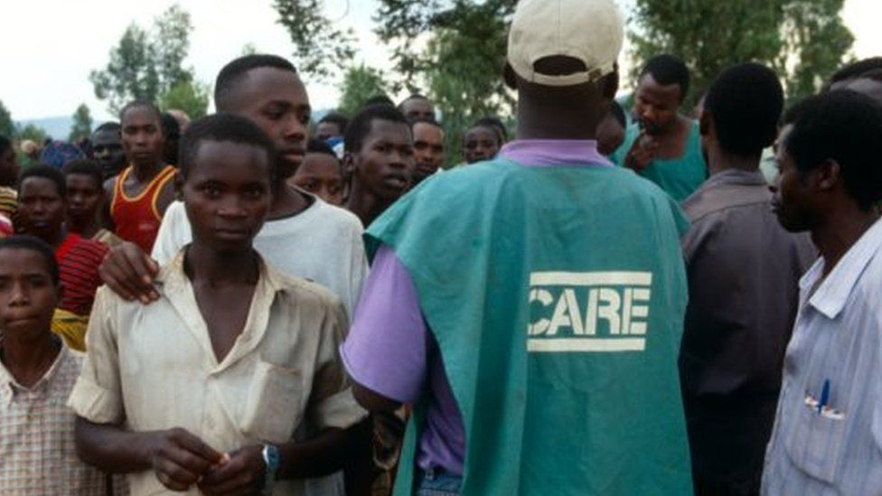 World Food Programme official distributing aid in Burundi (file photo)