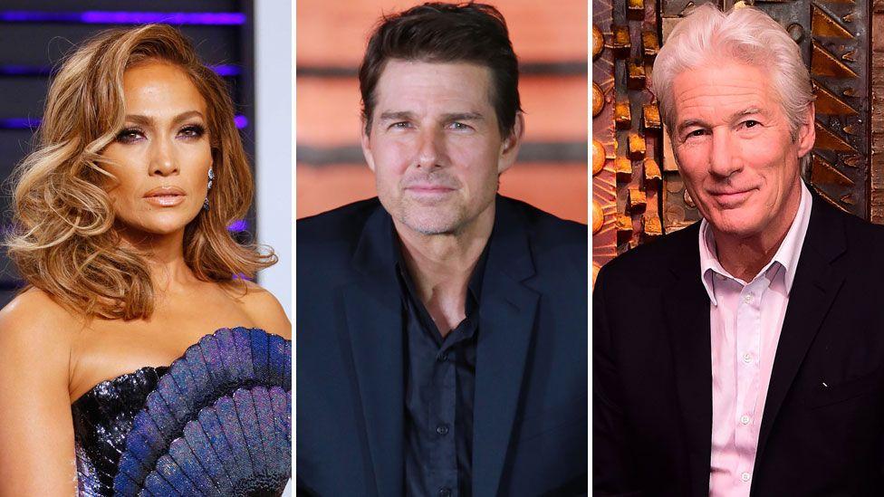 Jennifer Lopez, Tom Cruise and Richard Gere
