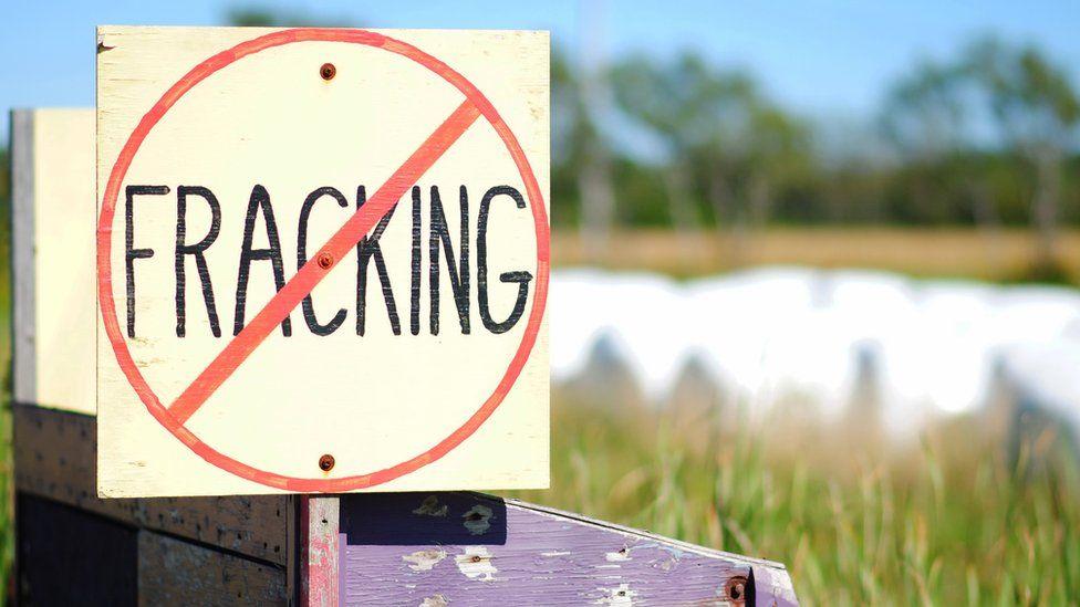 No fracking sign