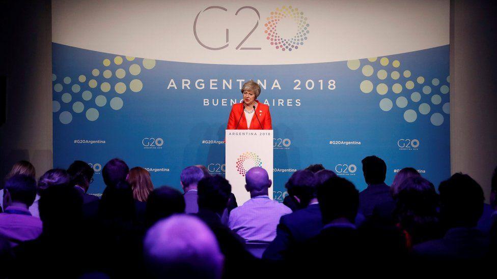Theresa May in Argentina