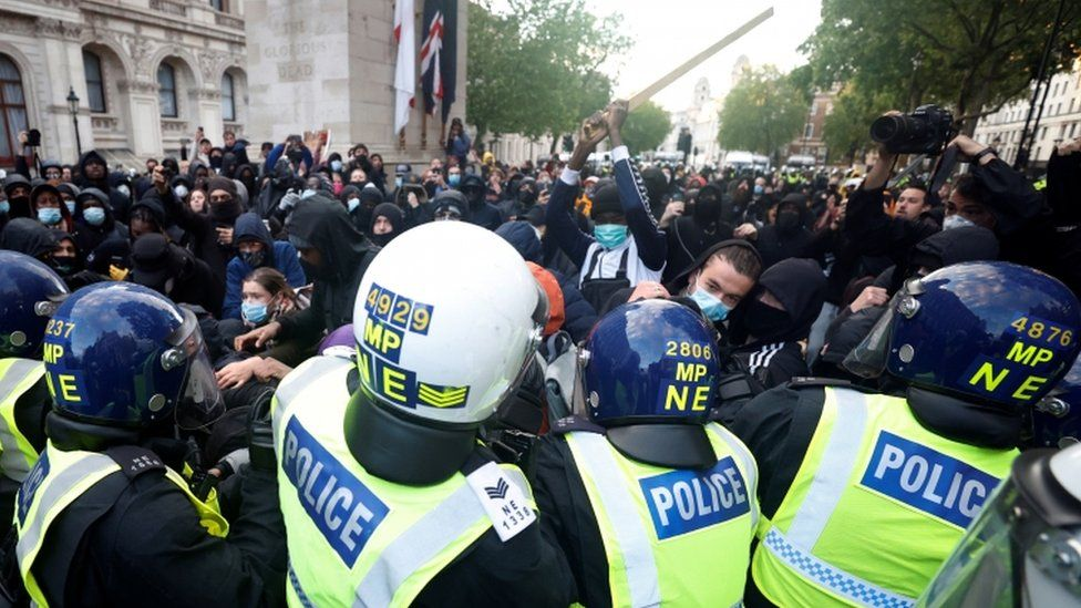 Police and protesters clashed after