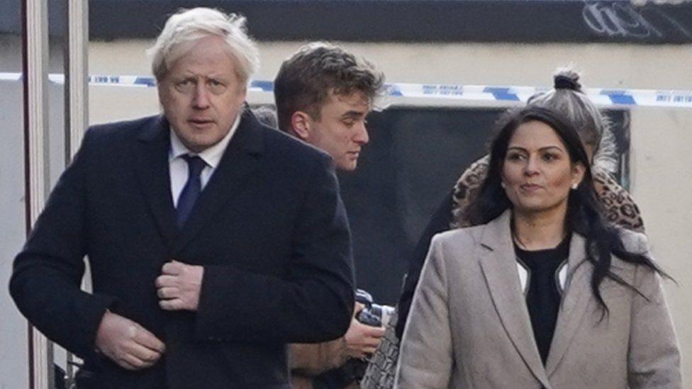 Prime Minister Boris Johnson and Home Secretary Priti Patel