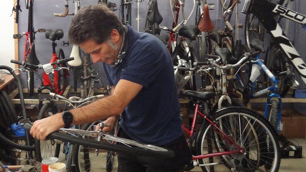 Paul Horta-Hopkins, bike technician