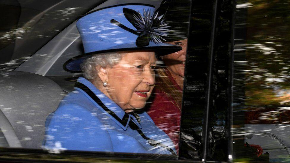 The Queen at Crathie Church