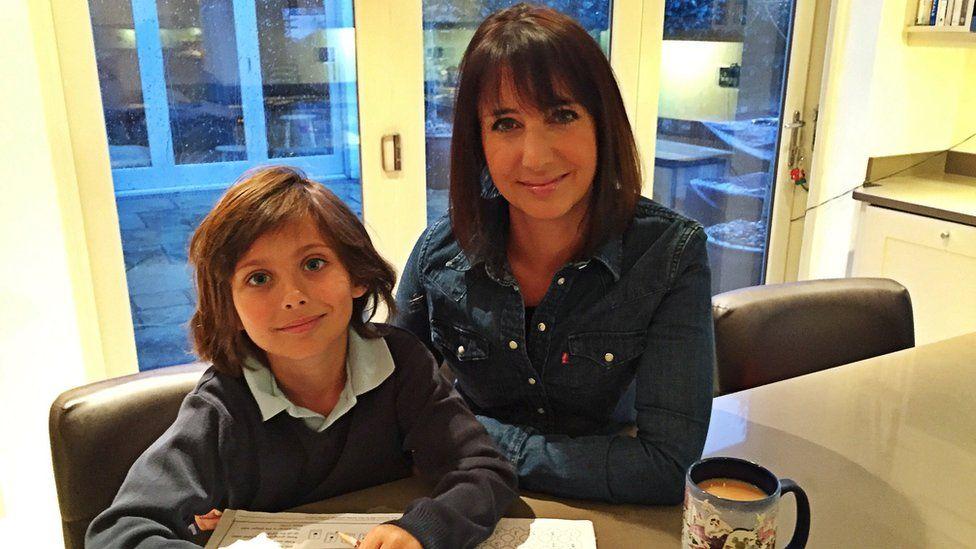 Lucy Owen and her son Gabriel