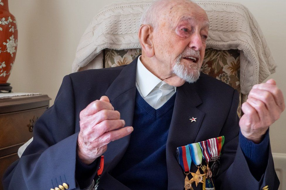 Veteran Ted Cordery at his home in Oxford
