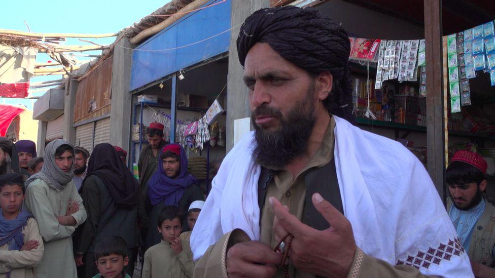 Haji Hekmat pictured in a black turban