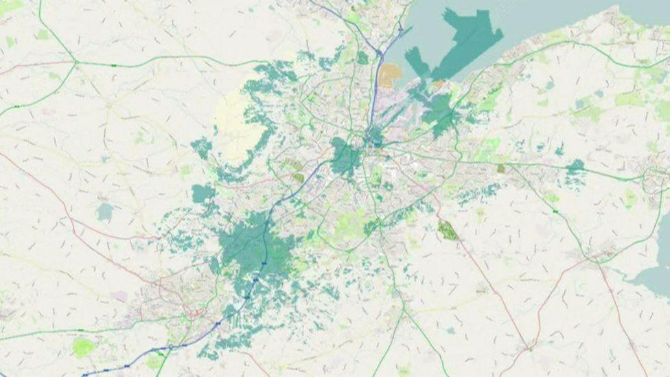 5G Belfast map