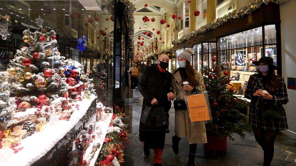 Shoppers at Burlington Arcade, London