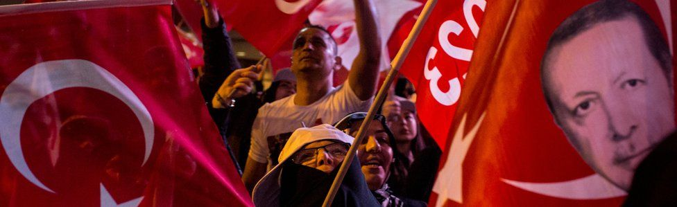 Yes voters celebrated the referendum result in Istanbul