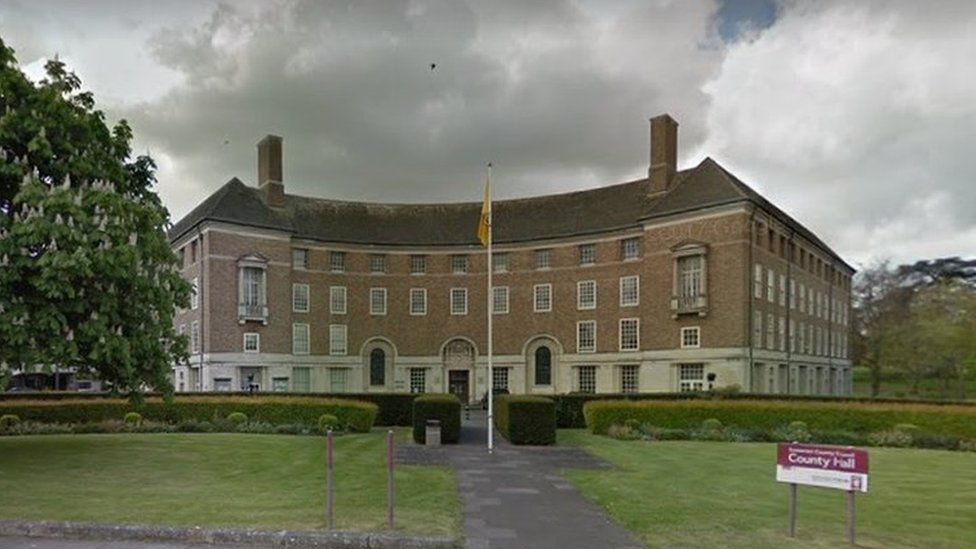 Somerset County Council headquarters at County Hall in Taunton