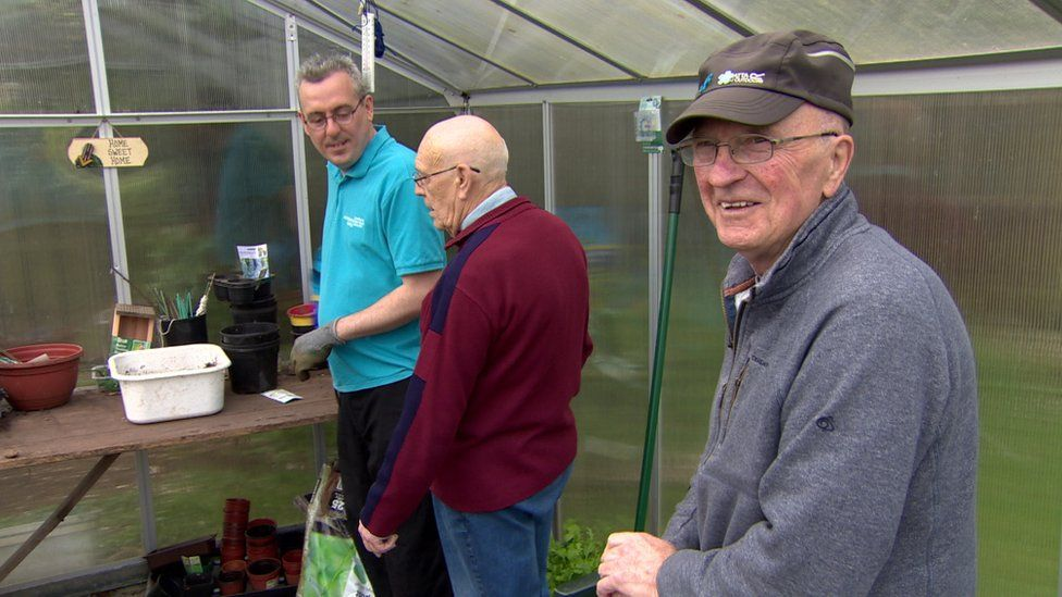 Danny Brown volunteers with a Men's Friendship Group in Antrim