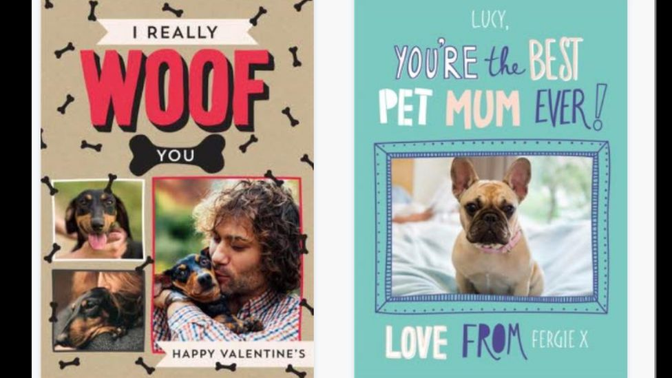 People are increasingly buying cards for their pets