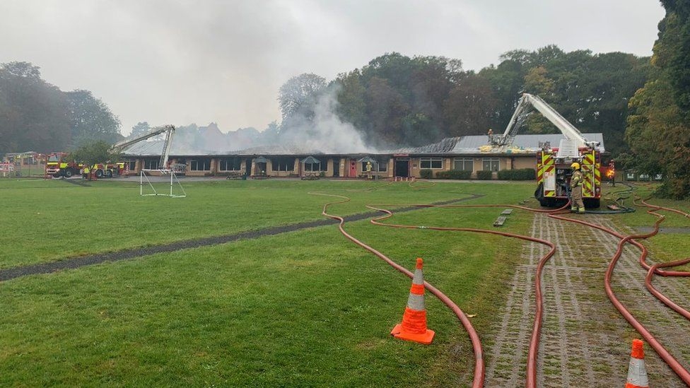 Fire at school