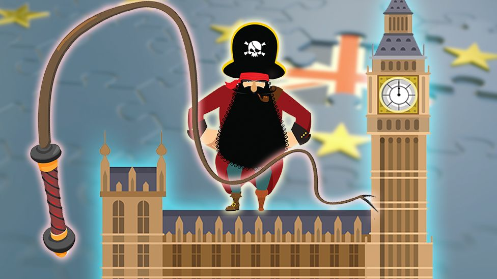 A whip, a pirate and the houses of parliament