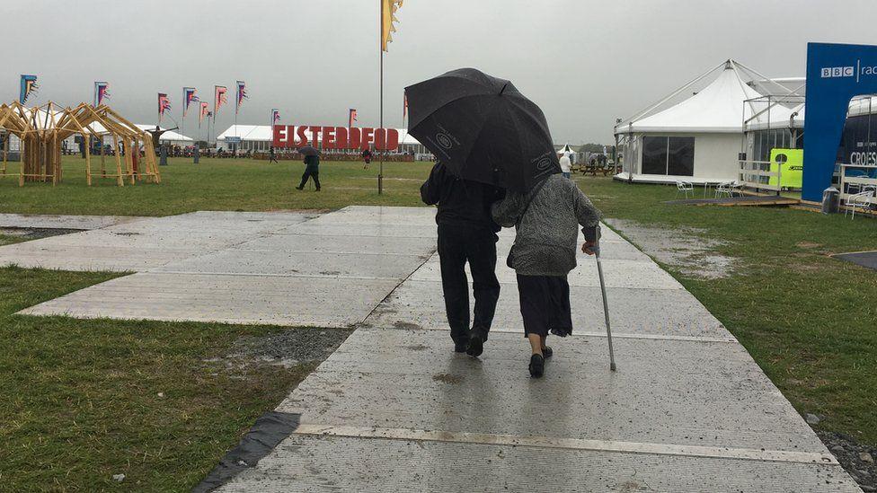 Rain at the Eisteddfod