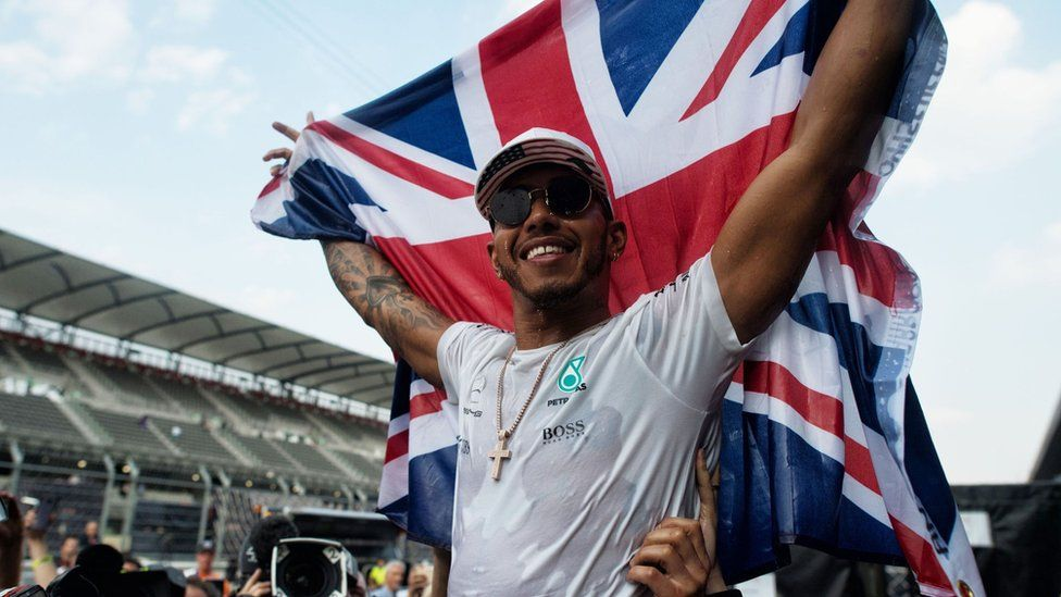 Lewis Hamilton after winning his fourth F1 title in Mexico