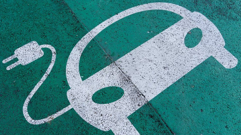 Electric charging point sign