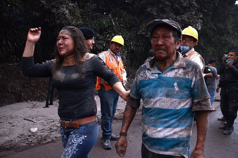People flee El Rodeo village, Escuintla department