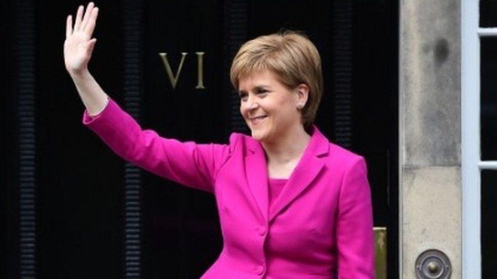 Nicola Sturgeon in Edinburgh